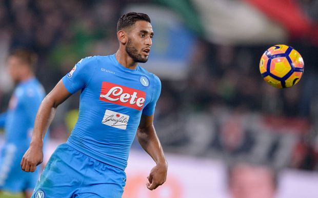 Faouzi Ghoulam of SSC Napoli in action during the Serie A